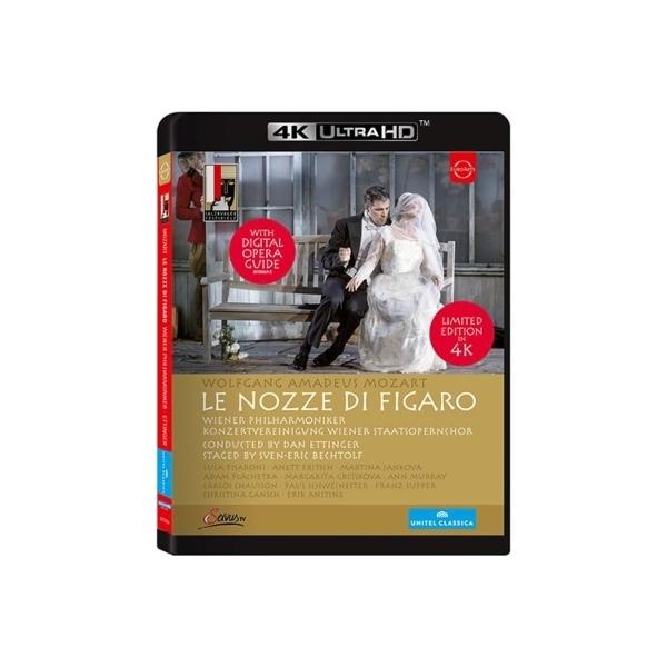 Mozart モーツァルト / 『フィガロの結婚』全曲 ベヒトルフ演出、エッティンガー & ウィーン・フィル、プラチェツカ、ヤンコヴァ、他(2015 ステレオ)(日本語字幕付)(4K ULTRA HD)(日本語解説付)【BLU-RAY DISC】