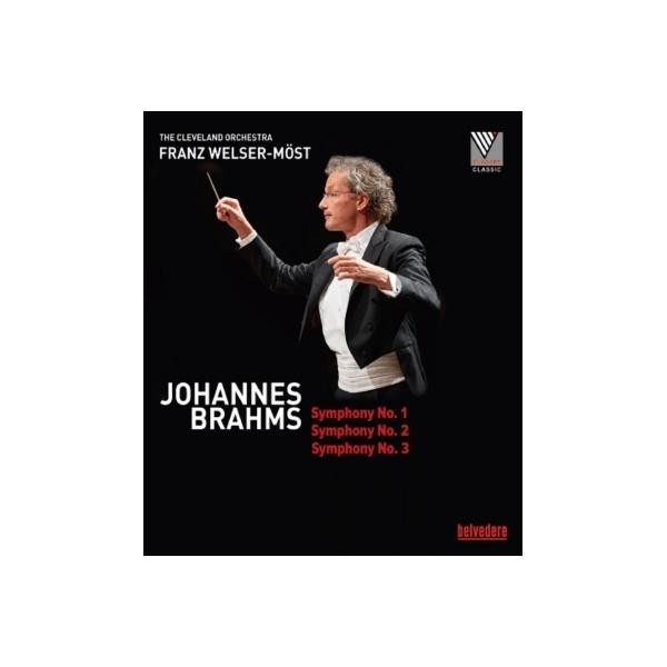 Brahms ブラームス / 交響曲第1番、第2番、第3番 フランツ・ヴェルザー=メスト&クリーヴランド管弦楽団【BLU-RAY DISC】