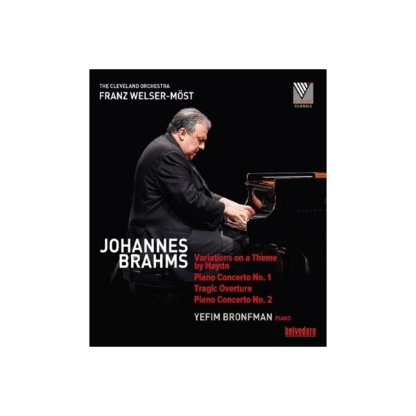 Brahms ブラームス / ピアノ協奏曲第1番、第2番、悲劇的序曲、ハイドンの主題による変奏曲 イェフィム・ブロンフマン、フランツ・ヴェルザー=メスト&クリーヴランド管弦楽団【BLU-RAY DISC】