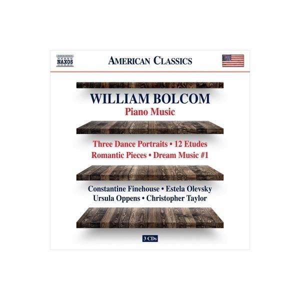 ボルコム、ウィリアム(1938-) / ピアノ作品集 コンスタンティン・ファインハウス、ウルスラ・オッペンス、クリストファー・テイラー、エステラ・オレヴスキー(3CD)【CD】