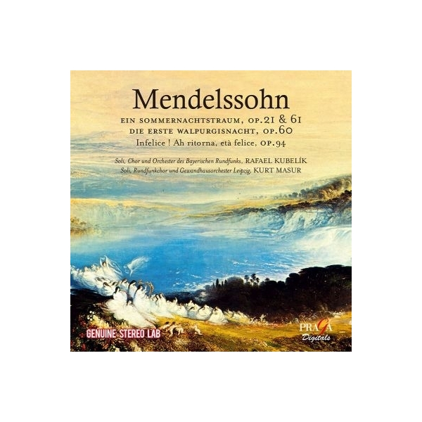 Mendelssohn メンデルスゾーン / 『真夏の夜の夢』『最初のワルプルギスの夜』、他 クーベリック&バイエルン放送響、マズア&ゲヴァントハウス管【CD】