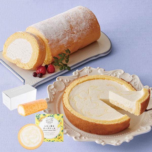 お中元 ギフト スイーツ 送料込み 堂島バニラロール&レモン香るチーズケーキ 簡易包装 のし対応可(Q23-6)【5%OFFクーポン利用可能】【コード:K2WBDCW】