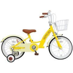 DEEPER 16インチ 子供用自転車 DE-001 かご・補助輪付き イエロー