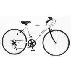 GRAPHIS (グラフィス)  26インチ クロスバイク シマノ6段変速 GR-001 ホワイト