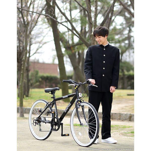 GRAPHIS (グラフィス)  24インチ クロスバイク シマノ6段変速 GR-001J ブラック