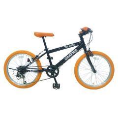 GRAPHIS (グラフィス)  子供用自転車 クロスバイク 22インチ シマノ6段変速 GR-001KIDS ブラックオレンジ