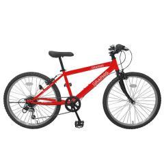 GRAPHIS (グラフィス)  子供用自転車 クロスバイク 22インチ シマノ6段変速 GR-001KIDS レッド