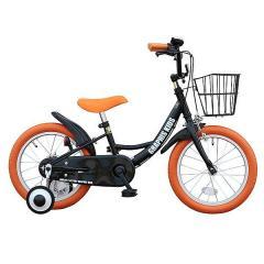 GRAPHIS (グラフィス)  子供用自転車 16インチ GR-16 ブラックオレンジ