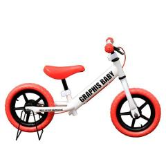 GRAPHIS (グラフィス)  12インチ幼児用ペダルなし自転車 RBJ ランニングバイクジャパン大会公認 GR-BABY ホワイトレッド