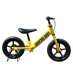 GRAPHIS (グラフィス)  12インチ幼児用ペダルなし自転車 RBJ ランニングバイクジャパン大会公認 GR-BABY イエロー