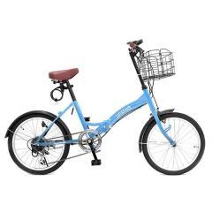 GRAPHIS (グラフィス)  20インチ 折りたたみ自転車 シマノ6段変速 GR-FD ブルー
