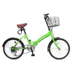 GRAPHIS (グラフィス)  20インチ 折りたたみ自転車 シマノ6段変速 GR-FD グリーン