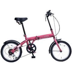 マイパラス 16インチ折りたたみ自転車 M-103 シマノ6段変速 ルージュ