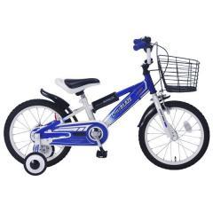 マイパラス 幼児用自転車 MD-10 カゴ付き 補助輪付き ブルー