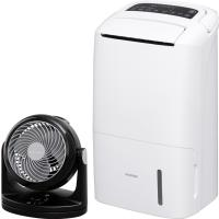 (送料無料)空気清浄機能付除湿機+サーキュレーター黒セット (1900448)アイリスオーヤマ