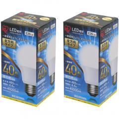 【2個セット】LED電球 E26 全方向 40形相当 LDA4N-G/W-4T4 昼白色 (1901382) アイリスオーヤマ