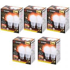 【10個セット】LED電球 E26 広配光 60形相当 LDA7L-G-6T62P 電球色 (1903570) アイリスオーヤマ