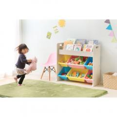 おもちゃ収納 収納 本棚 絵本ラック トイハウスラック 子供部屋 かわいい キッズ アイリスオーヤマ ETHR-26 パステル (251496)  (送料無料)