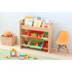 おもちゃ収納 収納 本棚 絵本ラック トイハウスラック 子供部屋 かわいい キッズ アイリスオーヤマ ETHR-26 キャロット (251497)  (送料無料)