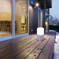 乾電池式LEDセンサーライト スタンドタイプ 角型 白色 OSL-MN2K-WS ウォームシルバー アイリスオーヤマ(268796)アイリスオーヤマ
