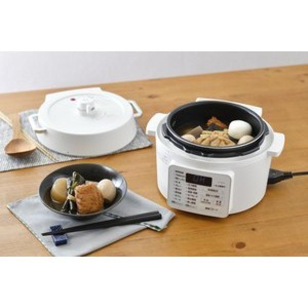 鍋 2.2L 電気圧力鍋 圧力鍋 電気 アイリスオーヤマ 使いやすい おすすめ レシピ 自動調理 簡単 簡単操作 圧力 電気 ホワイト  PC,MA2,W (509306)