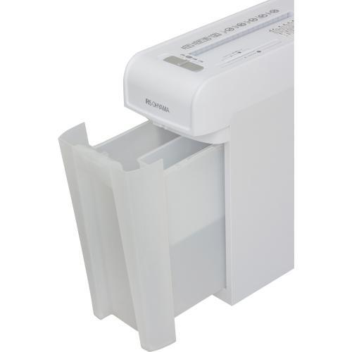 シュレッダー 電動 アイリスオーヤマ 家庭用 業務用 静音 細密シュレッダー A4用紙6枚裁断 細断 安心 安全 キャスター付き 人気 おしゃれ クリアダストボックス P6HMCS (520551)  (送料無料)