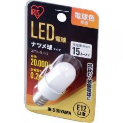 電球 LED電球 アイリスオーヤマナツメ球タイプ E12 電球色相当 LDT1L-G-E12 (521509) アイリスオーヤマ