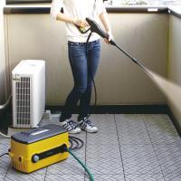 高圧洗浄機 家庭用 手動 FBN-604 【イエロー】( 洗車 ベランダ 掃除)(530199) アイリスオーヤマ (送料無料)