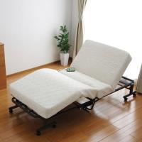 (送料無料)折りたたみコイル電動ベッド OTB-CDN ホワイト (536259) アイリスオーヤマ