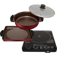 (送料無料)IHクッキングヒーター 焼き肉プレート・鍋セット焼肉 鍋  IHC-T51S-B ブラック (561637)アイリスオーヤマ