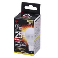 LED電球 E17 直下 25形相当 電球色 LDA3L-H-E17-2T3  アイリスオーヤマ