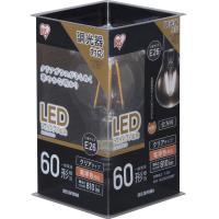 LEDフィラメント電球 E26 60形相当 電球色 調光 LDA7L-G/D-FC クリア アイリスオーヤマ