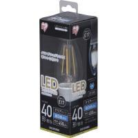LEDフィラメント電球 E17 40形相当 昼白色 非調光 LDC3N-G-E17-FC クリア アイリスオーヤマ
