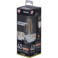 LED電球 LEDフィラメント電球 E17 40W形相当 非調光 昼白色(450lm) LDC4N-G-E17・電球色(450lm)(567367) アイリスオーヤマ