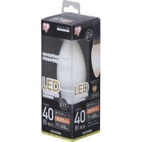 LEDフィラメント電球 E17 40形相当 電球色 非調光 LDC3L-G-E17-FW 乳白 アイリスオーヤマ