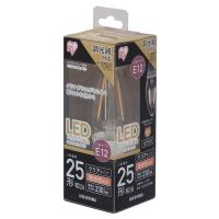 LEDフィラメント電球 E12タイプ 25形相当 電球色 調光 クリアタイプ LDC2L-G-E12/D-FC  アイリスオーヤマ
