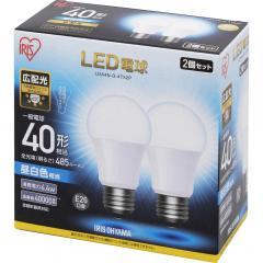 LED電球 E26 広配光タイプ 40W形相当 昼白色相当 2個セット LDA4N-G-4T52P (567951) アイリスオーヤマ