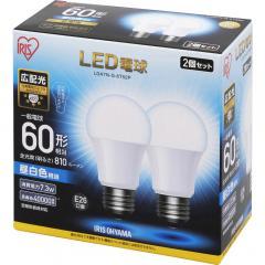 LED電球 E26 広配光タイプ 60W形相当 昼白色相当 2個セット LDA7N-G-6T52P (567953) アイリスオーヤマ