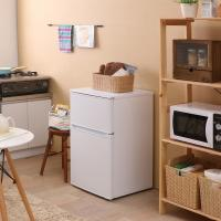 冷蔵庫 2ドア 一人暮らし 2ドア冷凍冷蔵庫 IRR-A09TW-W ホワイト(7049124) アイリスオーヤマ (送料無料)【7月末-8月上旬入荷次第発送】:予約品