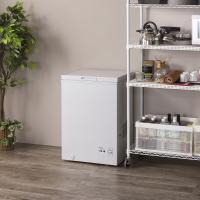 冷凍庫 家庭用 小型 業務用 ストッカー 上開き PF-A100TD-W 安い 肉 魚 野菜 冷凍食品 100L (7088062) アイリスオーヤマ