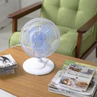 扇風機 おしゃれ リビング 卓上 小型 首振り コンパクト 卓上扇風機 ホワイト PF-181D-W (7095339) アイリスオーヤマ