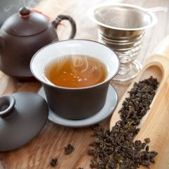 桃と杏の烏龍茶