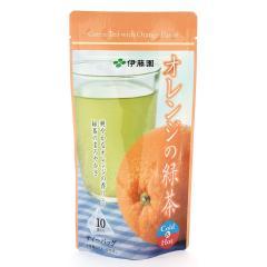 オレンジの緑茶ティーバッグ