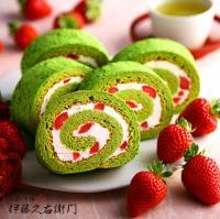 伊藤久右衛門 つぶつぶいちご抹茶ロールケーキ 洋菓子
