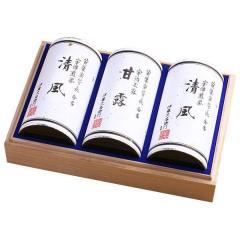 送料無料 伊藤久右衛門 宇治茶 宇治玉露・煎茶 3本缶セット 木箱詰め KSS-100