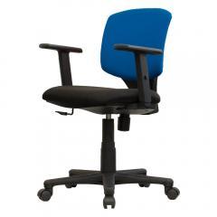 イトーキ オフィスチェア サリダチェア YL2 アジャスタブル肘付 ブルー×ブラック YL2-BUBL-AEL