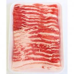 【大型サイズはお買い得】国産豚バラうす切り      (550g)