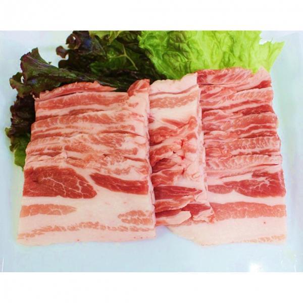 栃木県産四元豚こくみ豚バラ焼肉用 (200g)『顔が見えるお肉。』