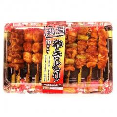 【冷凍でお届け】国産若鶏味付きやきとり(5種)10本