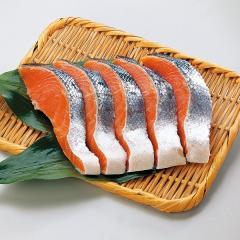 塩銀鮭 1切 (甘口・養殖)(チリ産などの原料使用)【冷凍でお届け】